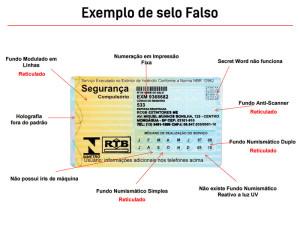 Exemplo de selo Falso