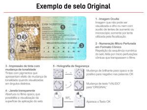 Exemplo de selo Original